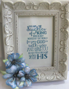 Heartfelt floral daughter framed blue 6-16