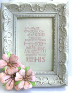 Heartfelt floral daughter framed pink 6-16