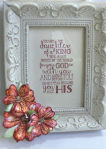 Heartfelt floral daughter framed red 6-16