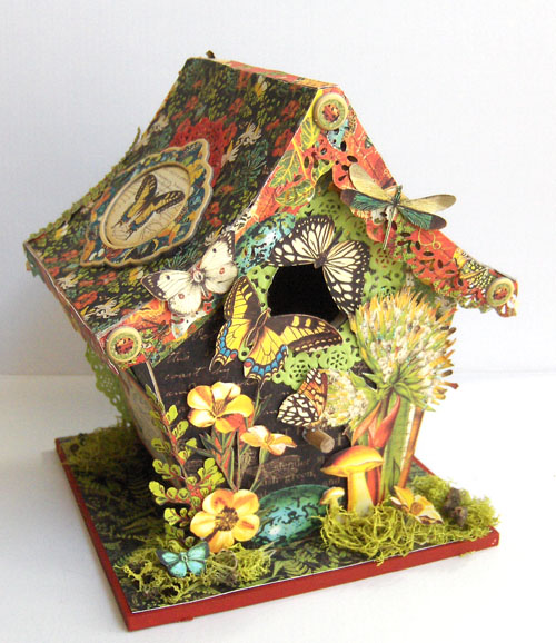 A Nature Sketchbook Birdhouse | Bella Cosa Vintage on modern birdhouse designs, mosaic birdhouse designs, cute birdhouse designs, exotic birdhouse designs, awesome birdhouse designs, unusual birdhouse designs, interesting birdhouse designs, whimsical birdhouse designs, ornate birdhouse designs, creative birdhouse designs,